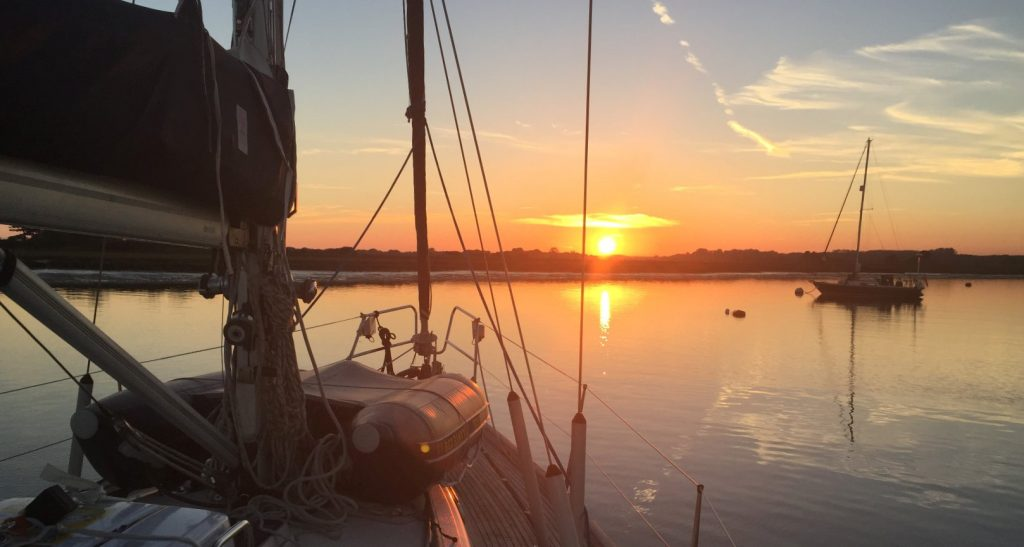 Sunset onboard kasara