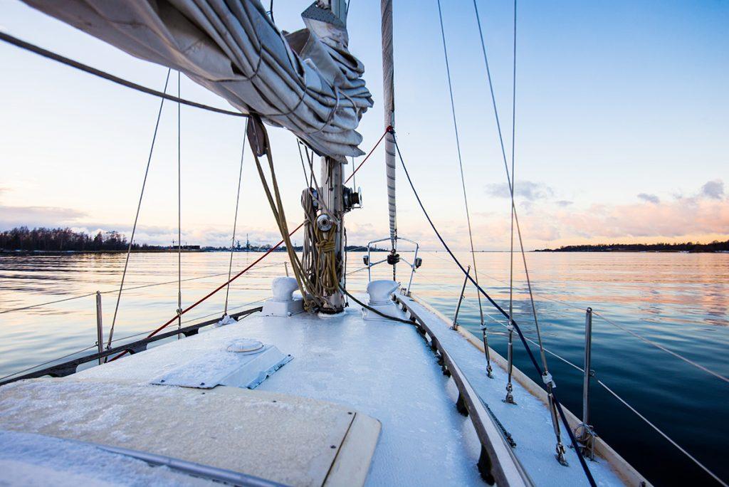 Winter sailing photo
